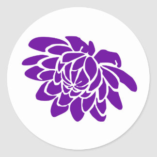 A Lotus Flower Sticker (purple)