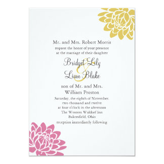 A Lotus Flower Wedding Invitation 2(yellow)
