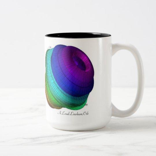 A Loud Linoleum Orb Two-Tone Coffee Mug