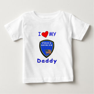 A Love My Police Daddy Baby T-Shirt