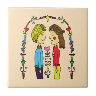 A Lovely Day for Love Ceramic Tiles