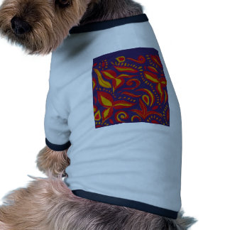 A lovely floral design dog tee