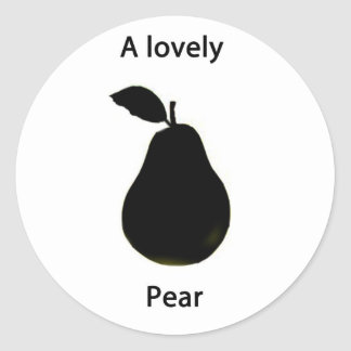 a lovely pear classic round sticker