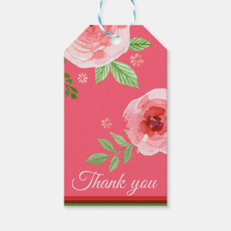 a lovely rose pink thank you tag
