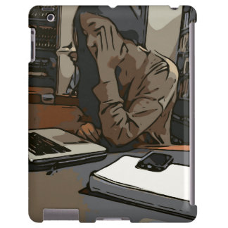 A Lovely Study Library Woman iPad Case