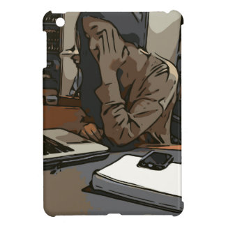 A Lovely Study Library Woman iPad Mini Covers