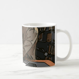 A Lovely Study Library Woman Classic White Coffee Mug