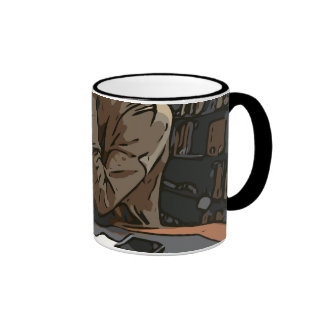 A Lovely Study Library Woman Ringer Coffee Mug