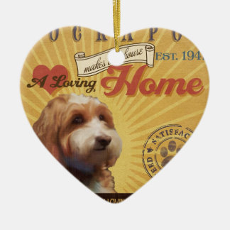 A Loving Cockapoo Makes Our House Home Christmas Ornament