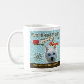 A Loving Dandie Dinmont Terrier Basic White Mug