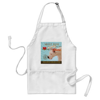 A Loving Great Dane Makes Our House Home Standard Apron