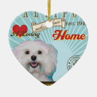 A Loving Maltipoo Makes Our House Home Christmas Ornament