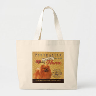 A Loving Pomeranian Makes Our House Home Large Tote Bag