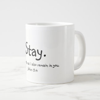 A loving reminder to enjoy Him... Large Coffee Mug