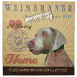 A Loving  Weimaraner Makes Our House Home Printed Napkin