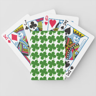 A Lucky Green Shamrock Bicycle Poker Deck