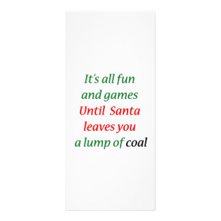 A Lump Of Coal Personalized Rack Card
