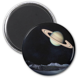 A LUNAR VIEW (saturn outer space) ~.jpg 6 Cm Round Magnet