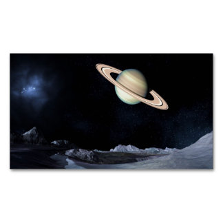 A LUNAR VIEW (saturn outer space) ~.jpg Magnetic Business Cards