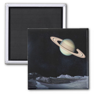 A LUNAR VIEW (saturn outer space) ~.jpg Square Magnet