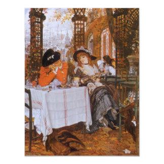 A Luncheon (Petite Dejeuner) by James Tissot 11 Cm X 14 Cm Invitation Card