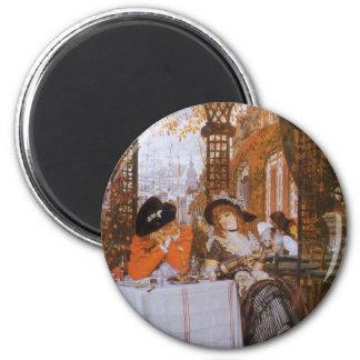 A Luncheon (Petite Dejeuner) by James Tissot 6 Cm Round Magnet