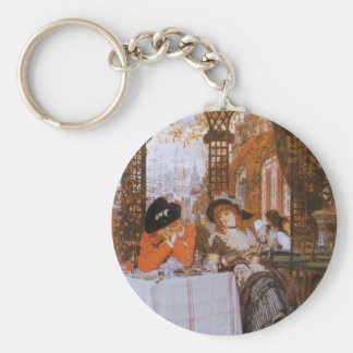 A Luncheon (Petite Dejeuner) by James Tissot Basic Round Button Key Ring