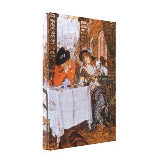 A Luncheon Petite Dejeuner by James Tissot Canvas Prints