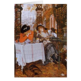 A Luncheon (Petite Dejeuner) by James Tissot Card