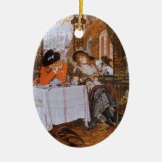 A Luncheon (Petite Dejeuner) by James Tissot Ceramic Oval Decoration