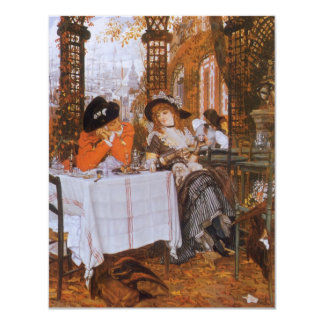 A Luncheon (Petite Dejeuner) by James Tissot 11 Cm X 14 Cm Invitation Card