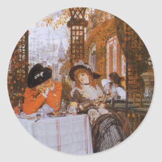 A Luncheon (Petite Dejeuner) by James Tissot Round Sticker