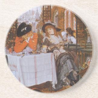 A Luncheon (Petite Dejeuner) by James Tissot Sandstone Coaster