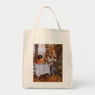 A Luncheon (Petite Dejeuner) by James Tissot Grocery Tote Bag