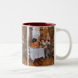 A Luncheon (Petite Dejeuner) by James Tissot Two-Tone Mug