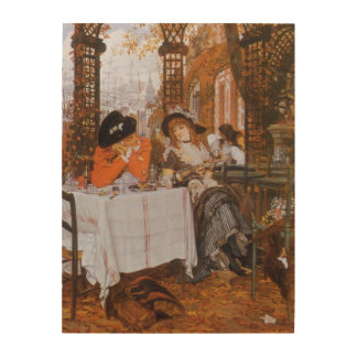 A Luncheon (Petite Dejeuner) by James Tissot Wood Canvases