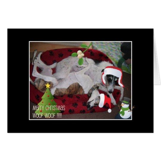 A Lurcher Christmas Card