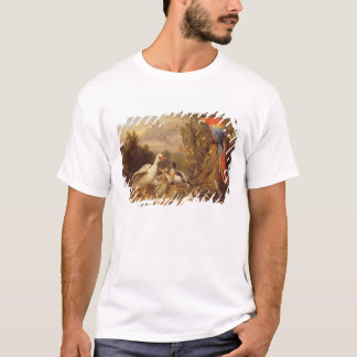 A Macaw, Ducks, Parrots and Other Birds in a Lands T-Shirt