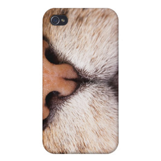 A macro image of a cat's nose and mouth. case for iPhone 4