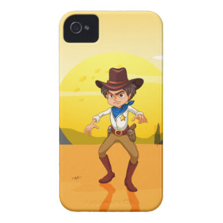 A mad cowboy at the desert iPhone 4 cover
