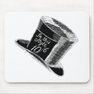 A Mad Hatter Hat in Black Mouse Pad