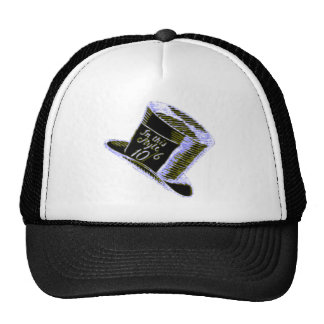 A Mad Hatter Hat in Black with Blue Tint