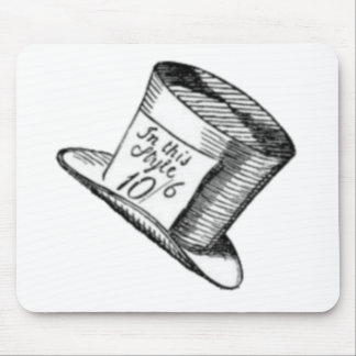 A Mad Hatter Hat Mouse Pad