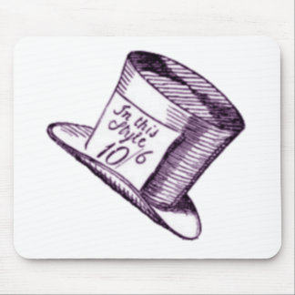A Mad Hatter Hat with Purple Tint Mouse Pad