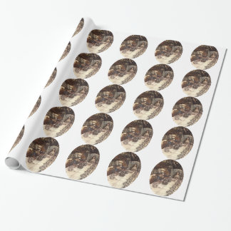 A Mad Hatter Tea Party Rackham Tiled Wrapping Paper