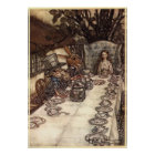 A Mad Tea Party by Arthur Rackham Poster