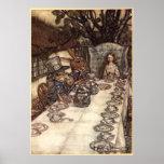 A Mad Tea Party by Arthur Rackham Poster