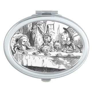A Mad Tea Party by Tenniel Compact Vanity Mirrors