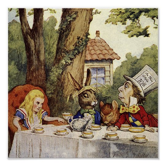A Mad Tea-Party Canvas Art Poster