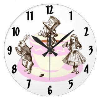 A Mad Tea Party Original Wall Clock